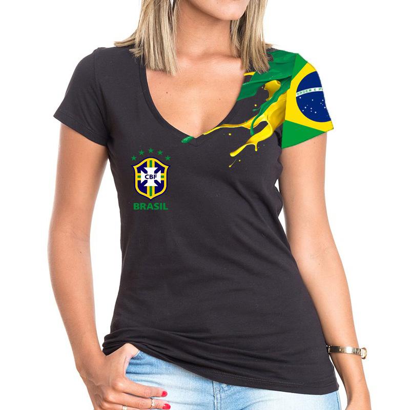 Brazil women s t shirt black bbq master shop for Womens brazil t shirt